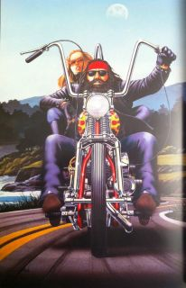 David Mann Art Day Moon Easyriders Print Harley Davidson H D HD