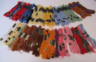 Embroidery Floss – Peri Lusta, J&P Coats, DMC – lot of 70 + skeins