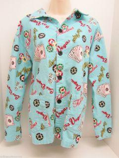 Salvage Las Vegas Casino Pajamas Size M Womens PJs Poker Pajama