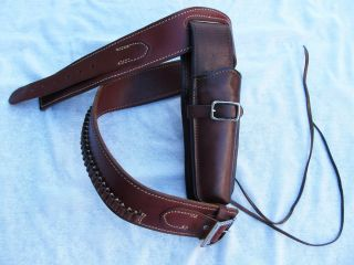 Vintage George Lawrence Drop Loop Ruger Single Six Leather Gun Holster