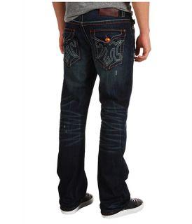 Mek Denim Oaxaca Slim Bootcut Jean in Dark Distressed