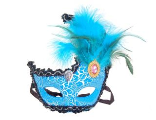 Crystal Christmas Feather Glitter Party Mask MASQUERADE Costume Ball