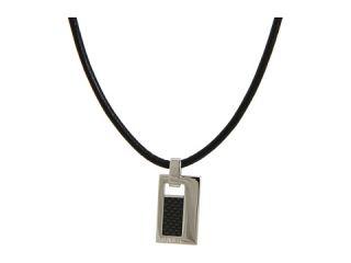00 breil milano manta black leather necklace $ 85 00