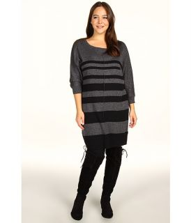 DKNY Jeans Plus Size Plus Size Striped Sweater Dress $60.99 $79.00