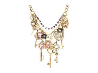 betsey johnson lovebird case heart key necklace $ 165 00