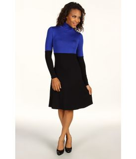 Karen Kane Rayon Spandex Jersey Color Block Turtleneck Dress