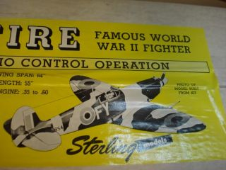 Sterling Supermarine Spitfire R C Model Airplane Kit Factory SEALED
