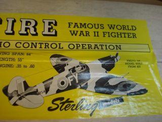 Sterling Supermarine Spitfire R C Model Airplane Kit Factory SEALED