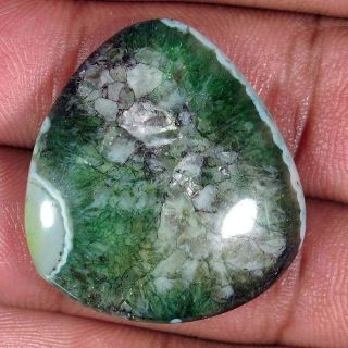39.25Cts. NATURAL ONYX AGATE DESIGNER FANCY CABOCHON AFRICAN GEMSTONE