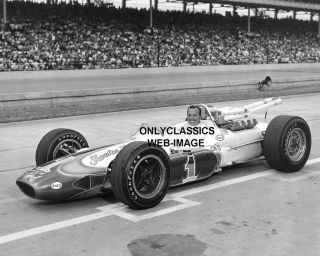 1965 Smiling A J Foyt Lotus Indy 500 Photo Auto Racing