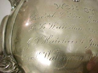 Large Ornate 1903 Sterling Silver Loving Cup Golf Club Trophy