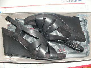 New Womens Shoes Sandals A2 Aerosoles Plush Out Black M