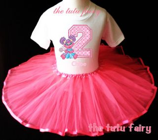 Abby Cadabby Fairy Birthday Shirt Hot Pink Tutu 2T 3T 4T 5T Name Age T