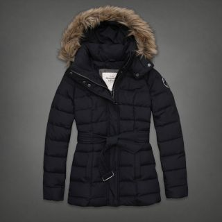 Abercrombie Fitch Women Down Blair Jacket Coat Navy Small 2012 New $