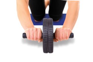 Abdominal Exercise Rolling AB Wheel Tones Tighten Abdominal Muscles