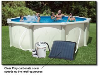 Solar Heater for Above Ground Pool with Average 10°F Increase in Pool