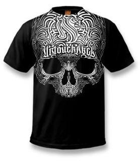 New OG Abel Striped Skull L XXL Black T Shirt