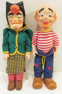 Lil Abner Al Capp Mammy Pappy Yokum 13 Cartoon Doll Set by Baby Barry