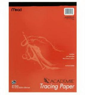 Mead 3pk 40 Count 12 x 9 Academie Tracing Paper