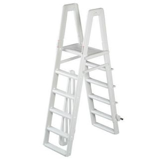Ocean Blue Deluxe Above Ground Swimming Pool A Frame Ladder w Slide