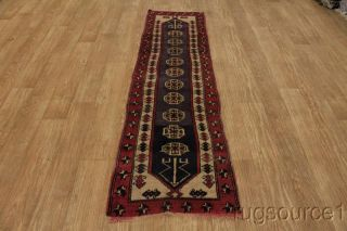 ANTIQUE TRIBAL RUG RUNNER 2X8 KAZAK CAUCASIAN ORIENTAL AREA RUG WOOL