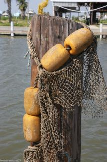 ROPE WITH 4 FLOATS NET BEACH DECOR BAR ACCESSORIES LOBSTER SHRIMP FISH