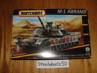 Matchbox M1 Abrams Tank Model Kit 1 72 Scale 1993 40179 Skill 3 Revell