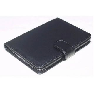 Black Folio PU Leather Case Cover Pouch for eBook  Kindle Touch