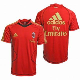 NWT Adidas AC Milan Italy Futbol Training Soccer Jersey Shirt Top Mens