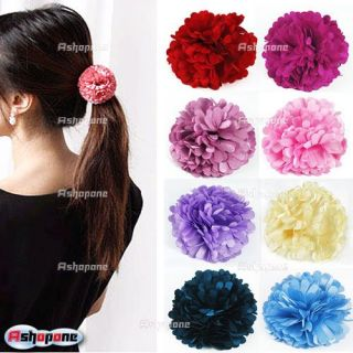 New Floral Flower Elastic Hair Band Hair Clips Accessory