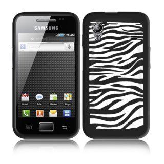 Black Silicone Zebra Case for Samsung Galaxy Ace S5830