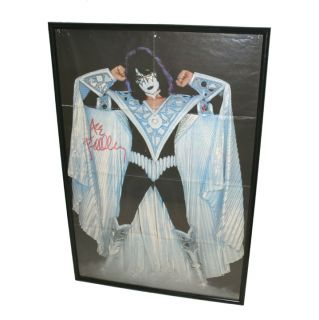 KISS ACE FREHLEY SIGNED POSTER AUTOGRAPHED VINTAGE KISS POSTER