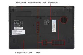 Acer AS5253 BZ661 AMD Dual Core E 350 1 60GHz 4GB DDR3 500GB HDD DVDRW