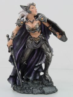 FEMALE WARRIOR STATUE.NORSE MYTHOLOGY FIGURINE.ARMORED.ACTION FIGURE