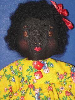 Super Cute Black Cloth Doll Edith Flack Ackley Pattern
