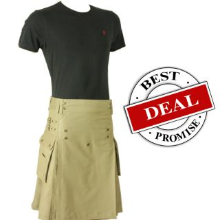 Active Men Khaki Prime Utility Kilt 32 50 Plus Free Branded T Shirt