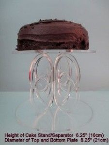 crystal clear acrylic 8 cake stand cake separator height 6 25 wedding