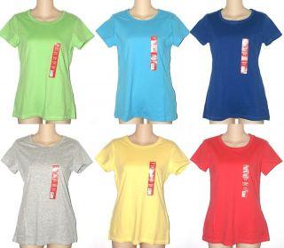 New Danskin Now Ladies Active Tee Top Shirt T Shirt Scoop Neck Short