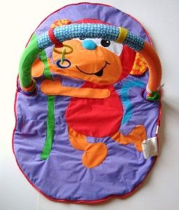 infantino merry monkey activity travel gym mat baby