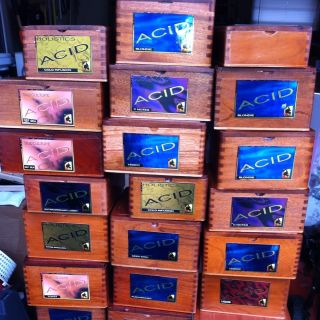 Acid Wooden Cigar Box Large Lot of 30ASSORTED