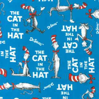 + 29 Dr. Seuss CAT IN THE HAT ADE 10796 203 Fabric Robert Kaufman