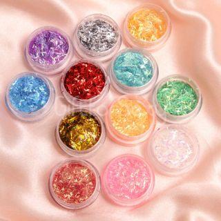 Glitter Nail Art Tool Kit Acrylic UV Powder Dust Polish Set