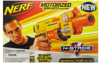 NERF N STRIKE MOTORIZED SEMI AUTO BARRICADE RV 10