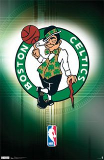 BOSTON CELTICS NBA Basketball Official Team Logo Poster Smilin