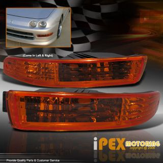 94 97 Acura Integra JDM Amber Front Bumper Turn Signal Parking Lights