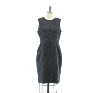 Elie Tahari for  Black Gray Shift Dress   8   Sleeveless
