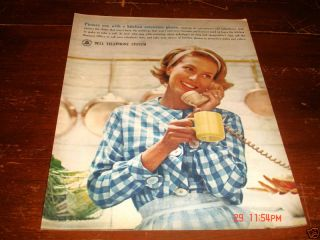 1963 Bell Telephone System Picture Kitchen Extension Ad