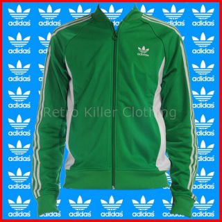 Adidas Originals Superstar Archive Sports Green Tracksuit Track Top