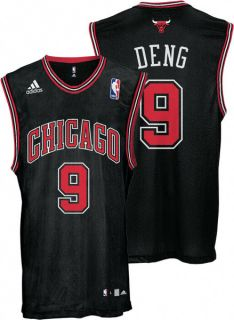 Luol Deng Youth Jersey Adidas Black Replica 9 Chicago Bulls Jersey