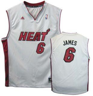 James Miami Heat White Revolution 30 Replica Adidas NBA Jersey